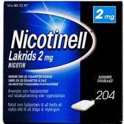 Nicotinell Lakrids Tyggegummi, 2 mg, 204 stk.