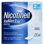 Nicotinell Ice Mint Tyggegummi, 2 mg, 204 stk.