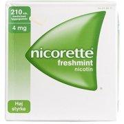 Nicorette Freshmint Tyggegummi, 4 mg, 210 stk.