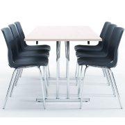 Bord med klapstel 180x80 cm, bøg melamin