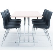 Bord med klapstel 80x180 cm, bøg melamin