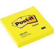 Post-it memoblok 76 x 76mm, neongul