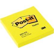 Post-it memoblok 76 x 76mm, neongul
