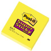 Post-it Super Sticky Notes 76 x 76mm, gul