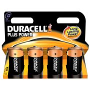 Duracell Plus Power D-batterier LR20, 4 stk.