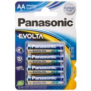 Panasonic str. AA Evolta batterier, 4stk