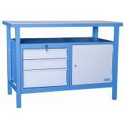 Güde arbejdsbord, 3 skuffer/1 skab, L.120xB.60 cm