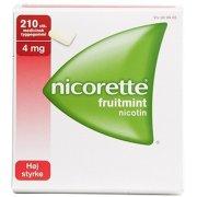 Nicorette Fruitmint Tyggegummi, 4 mg, 210 stk.