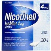 Nicotinell Ice Mint Tyggegummi, 4 mg, 204 stk.