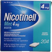 Nicotinell Mint Tyggegummi, 4 mg, 204 stk.