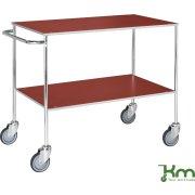 Rullebord - 2 hylder, 1000x580x850, Galvanis/Rød