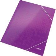 Leitz WOW elastikmappe, lilla