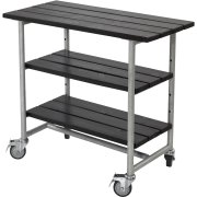 Plus Urban Grillbord m/2 hylder,  Sort