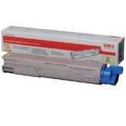 OKI 45862837 lasertoner, gul, 7300s.