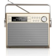 Philips AE5020 transportabel DAB-radio, ahorn