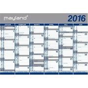 Mayland Kæmpekalender, 2x6 mdr., papir, i rør