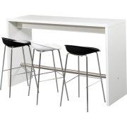 Detroit højt mødebord hvid H108xB60xL180 cm