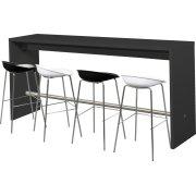 Detroit højt mødebord sort H108xB60xL240 cm