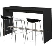 Detroit højt mødebord sort H108xB60xL180 cm
