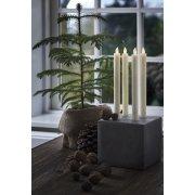 Thea LED kronelys, 2 stk, Creme, H.25 cm