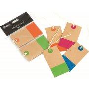 Til og fra manillakort med farver, 8 stk.