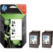 HP nr.56/C9502AE blækpatron sampak, sort, 450s