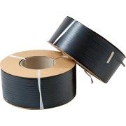 PP maskinbånd Ø200 mm, 130 kg, sort, 3000 m