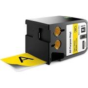 Dymo XTL, vinyltape, 54 mm, sort på gul