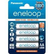 Panasonic Eneloop AA genop.batterier, 4 stk