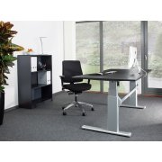 Jive Møbelsæt best. af bord, reol og kontorstol
