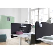 Softline Light bordskærmvæg 200x65 cm Sort