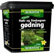 HORNUM Hæk- og Stedsegrøngødning, 5 liter/50 m2