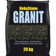 DekoStone Granit 20 kg, Sort