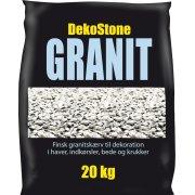 DekoStone Granit 20 kg, Hvid