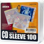 Cd/dvd lommer til 2 disc, 100 stk.