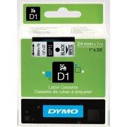 Dymo D1 labeltape 24mm, sort på klar