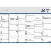 Mayland A4 kontorkalender, 2x6 måneder, klassisk