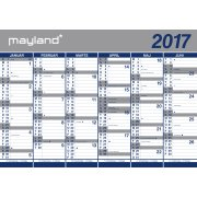 Mayland Kæmpekalender, 2x6 mdr., papir, rør