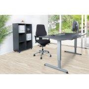 Line møbelsæt best. af bord, reol og kontorstol
