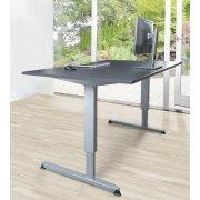 Stay hæve/sænkebord grå/alufarvet 180x90 cm