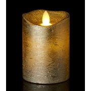 Tenna LED vokslys, Guld, H.10 cm