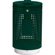 RMIG spand 836U i grøn m/lås, varmgalvaniseret