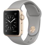 Apple Watch Serie 1, 38mm, guld, grå sportsrem