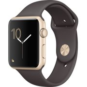 Apple Watch Series 1, 42mm, guld, kakao-farvet rem