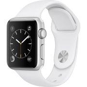 Apple Watch Series 2, 42mm, sølv, hvid sportsrem