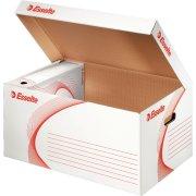 Esselte arkivboks, container med låg, top åben