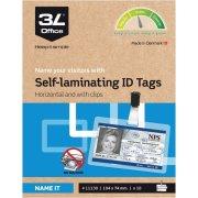 3L ID-kort, 104x74mm, inkl, clip, 10stk