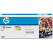 HP 307A/CE742A lasertoner, gul, 7300s