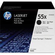 HP 55X/CE255XD lasertoner, sort, 2x 12500s