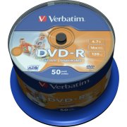 Verbatim DVD-R 4,7GB printable, spindel,  50 stk